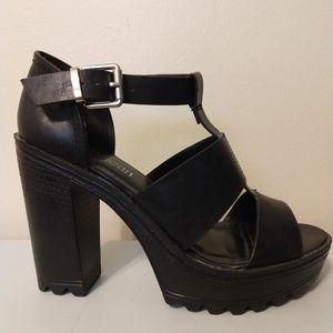 Cathy Jean Black Block Heels